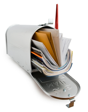 Mailbox with clipping path
