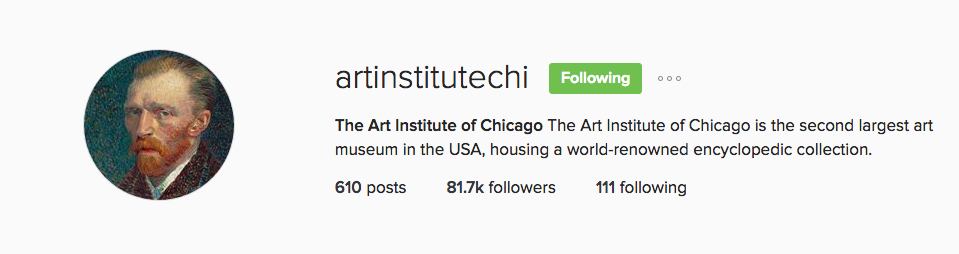 Art Institute of Chicago Instagram Profile Picture