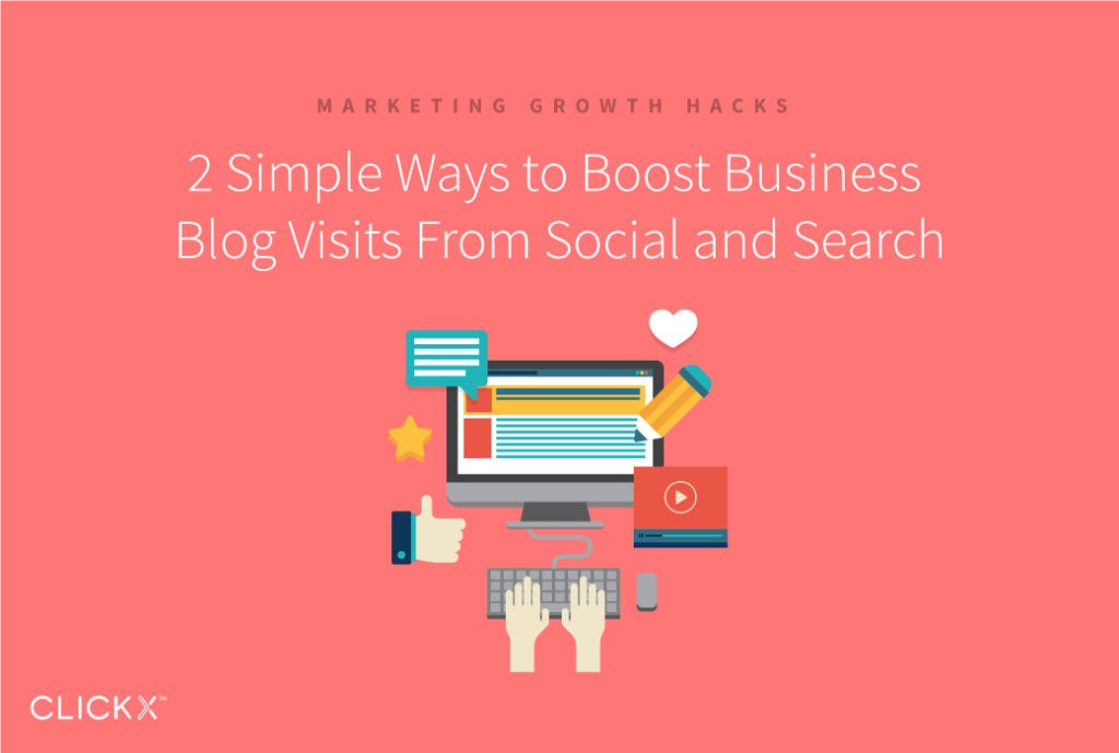 2 Simple Ways to Boost Business Blog Visits From Social and Search | Clickx.io